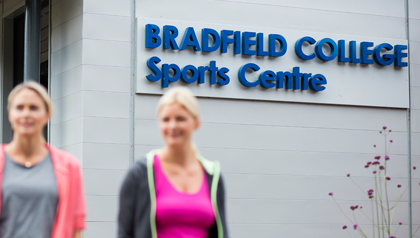 Sports centre main sign