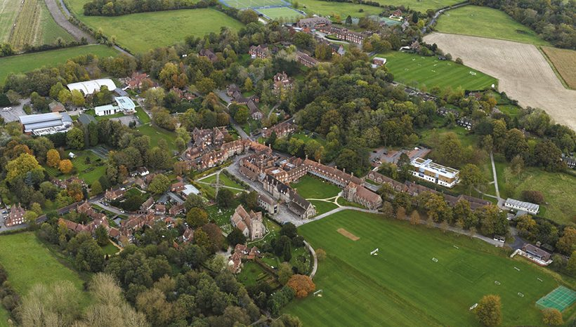Aerial view of Bradfield College