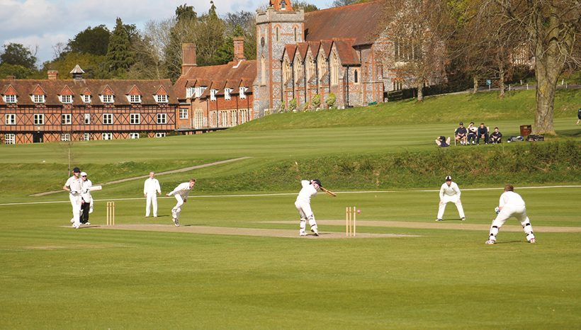 Cricket match at Bradfield College